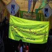 راهپیمایی روز قدس سال 96 با حضور طلاب مدارس علمیه خواهران استان فارس