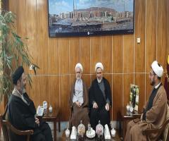 دیدار مدیر حوزه های علمیه خواهران با نماینده ولی فقیه در امور حج و زیارت