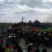 حضور طلاب خواهر استان فارس در راهپیمایی 22 بهمن(95)