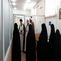 بازدید رئیس مرکز امور نخبگان و استعدادهای برترحوزه علمیه های علمیه از مصاحبه های علمی خواهران