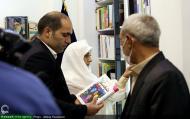 مراسم عقد زوج قمی در فروشگاه تخصصی کتاب زن و خانواده نشر هاجر