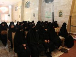 بازدید جمعی از طلاب خواهر  پاکستان از موسسه آموزش عالی تربیت مدرسه حوزههای علمیه خواهران